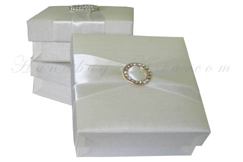 Embellished silk gift box