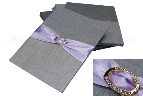 Silver silk pad with embellishment