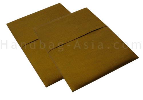 Padded silk pocket card holder for invitations