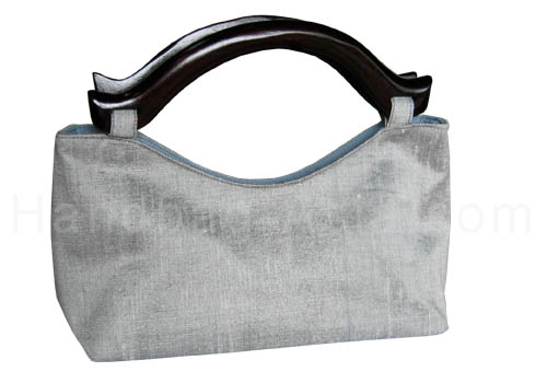 Silver Thai silk bag