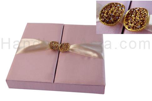 Silk box for wedding invitation cards