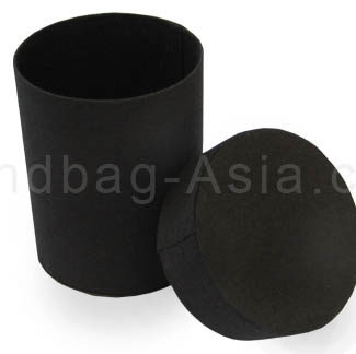 Black silk cylinder box