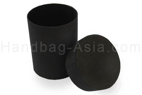 Black silk cylinder box