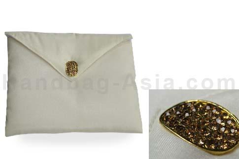 Ivory silk envelope