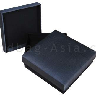 Charcoal grey silk box with black base