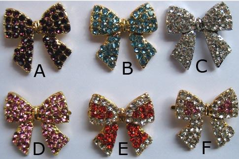 Rhinestone crystal bow