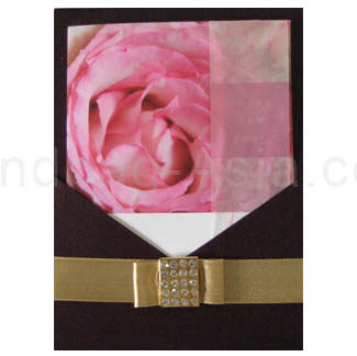 silk invitation card holder