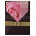 dark brown silk invitation holder