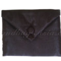 Black silk envelope
