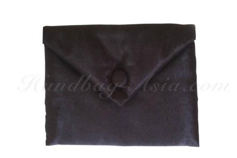 Black silk envelope