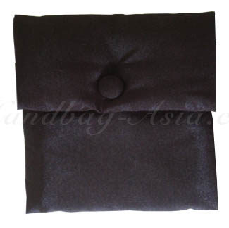 Plain Black Square Shaped Wedding Pouch