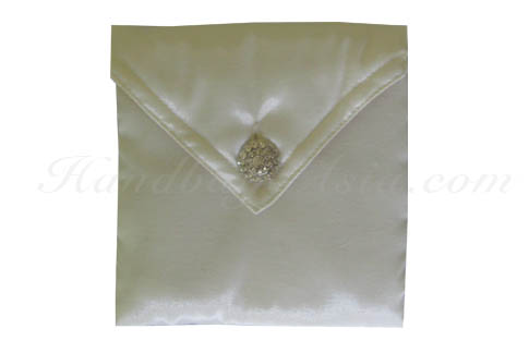 ivory wedding pouch in envelope shape