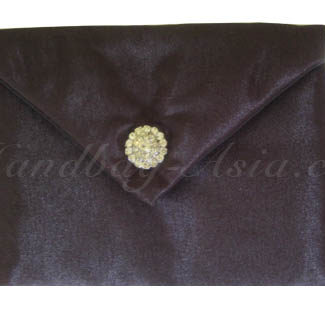 Black silk envelope with padding for wedding cards