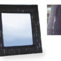 luxury silk picture frame in black