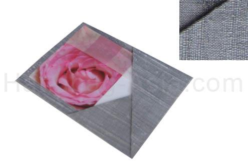 silver dupioni silk card holder with pocket