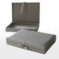 Silver wedding box for invitations with hinged lid