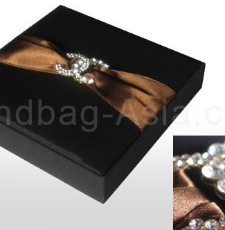 Black invitation box