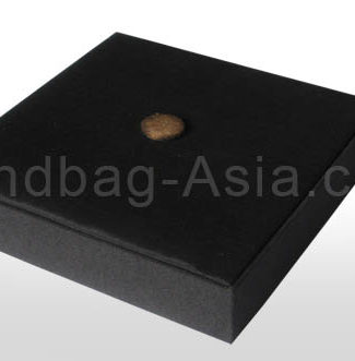Plain black box for wedding cards covered in silk