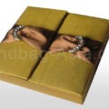 Embellished goldenrod gatefold box for wedding cards