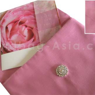 Pink silk envelope