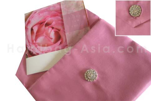 Pink silk envelope