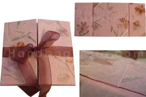 Mulberry paper wedding invitation folder