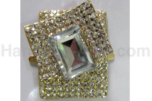 Modern crystal brooch for wedding box embellishment
