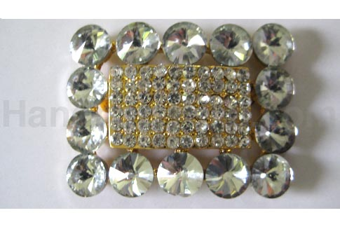 Quality crystal buckle and brooches