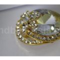 Golden Hat Rhinestone Brooch