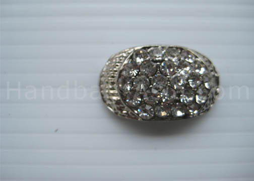 small oval crystal wedding brooch
