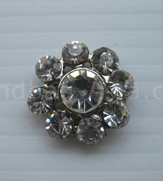 crystal button for embellishment