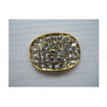 oval crystal button