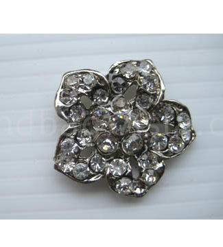 flower crystal button