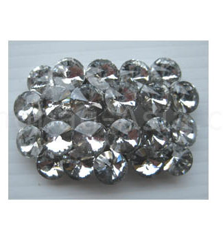 Large oval rhinestone brooch