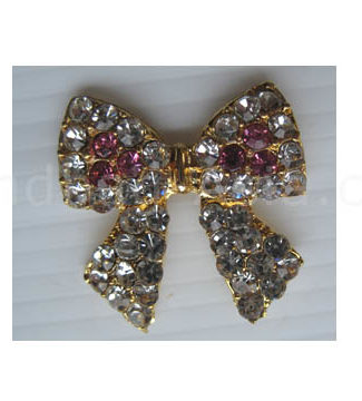 cute golden crystal bow
