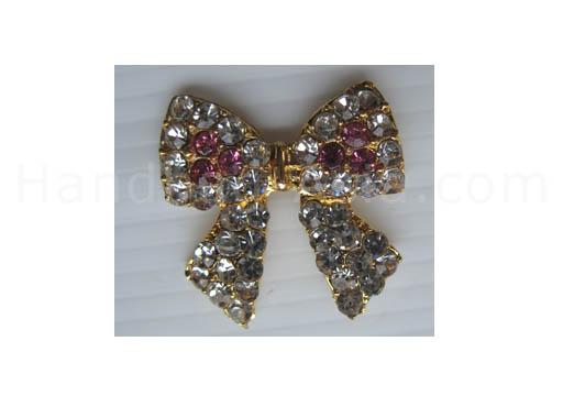 cute golden crystal bow