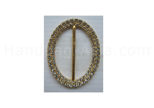 Oval rhinestone wedding buckle