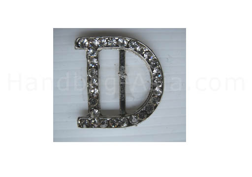 letter d crystal buckle