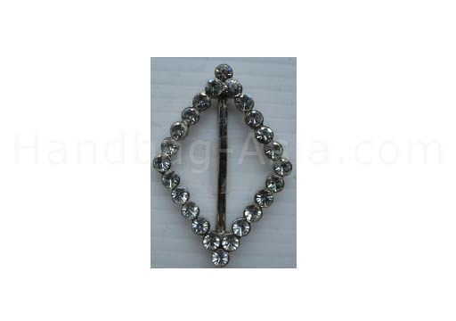 silver rhombus buckle