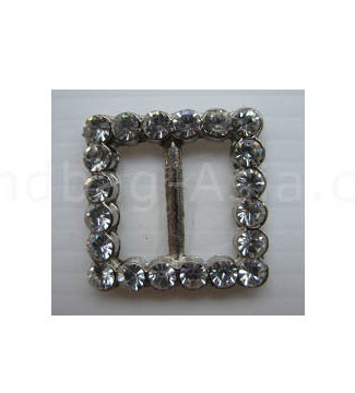 Silver square shaped buckle