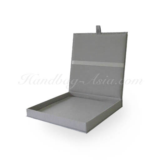 Plain silver wedding invitation box from Thailand