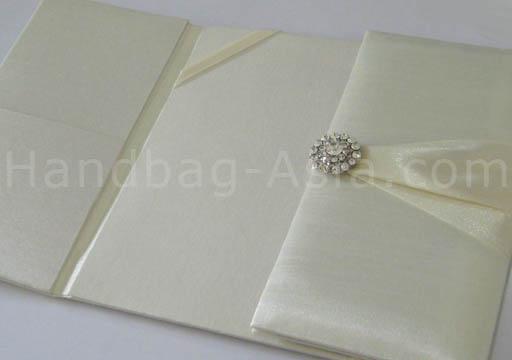 ivory silk folio