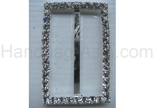 rectangle rhinestone buckle
