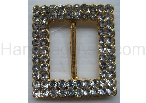 large rectangle buckle in gold