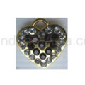golden rhinestone heart hanger