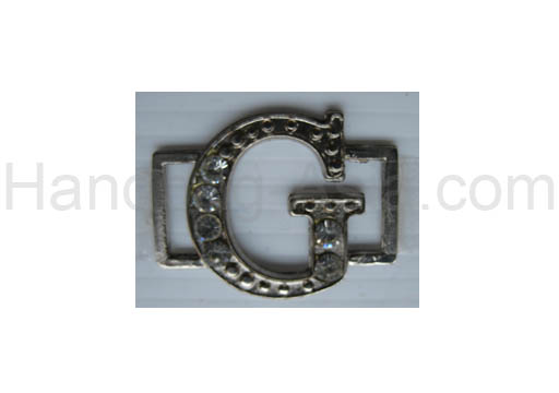alphabetic letter g rhinestone buckle