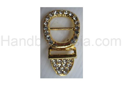 Golden crystal shoe buckle