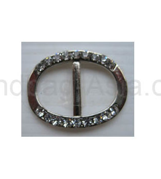 silver crystal buckle