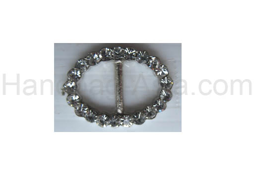 small round crystal buckle