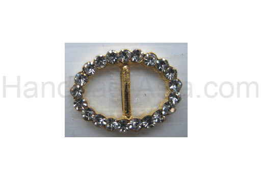 golden rhinestone buckle